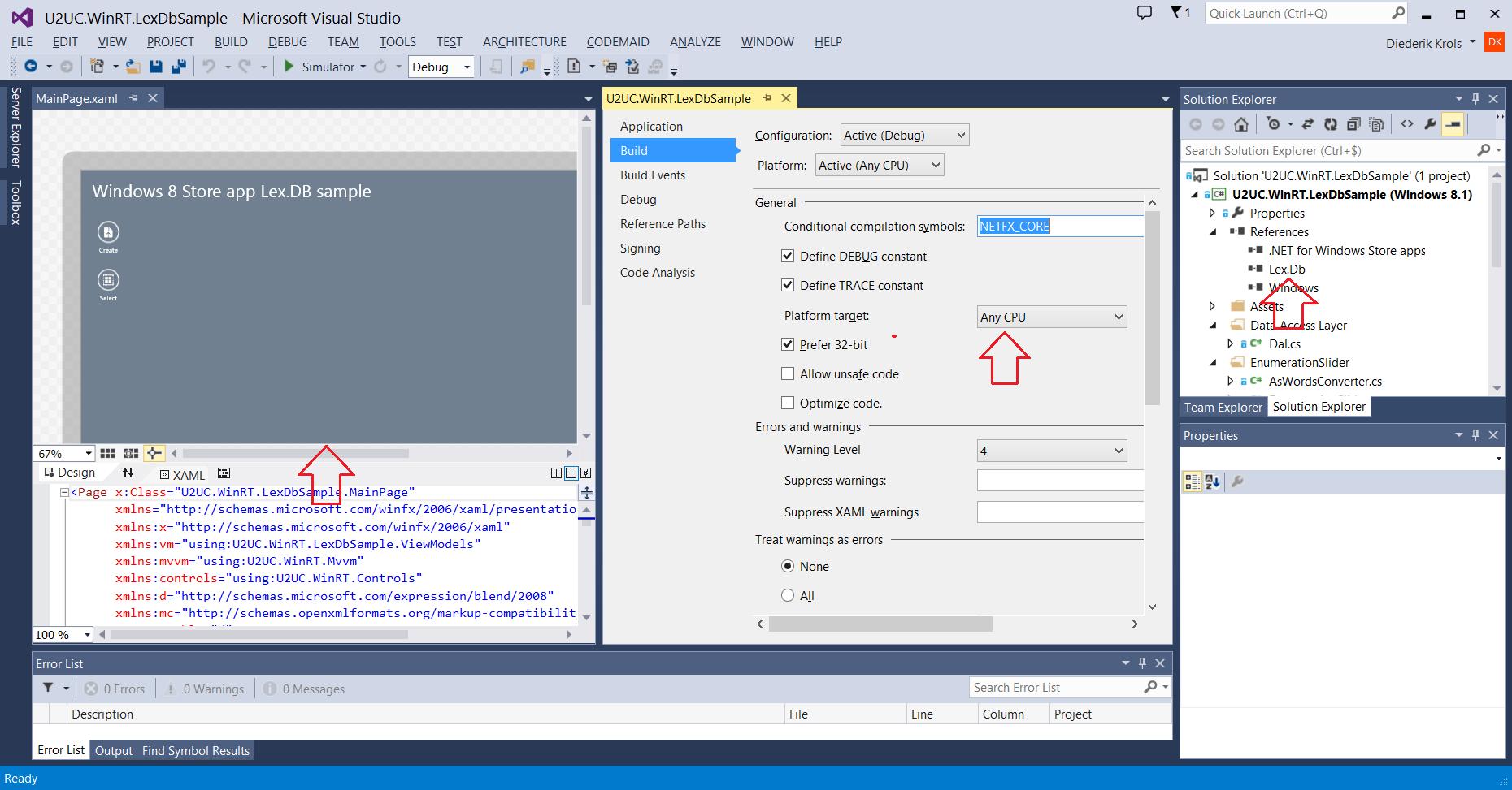 Diederik Krols | Using Lex DB as a local storage in a Windows 8