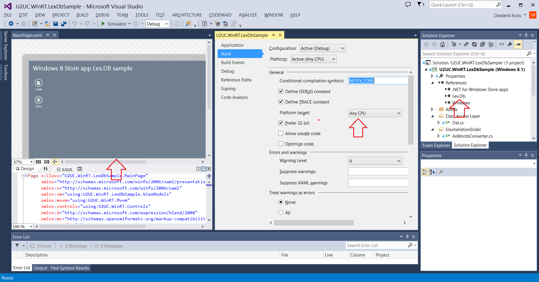 how to create local database in visual studio 2013