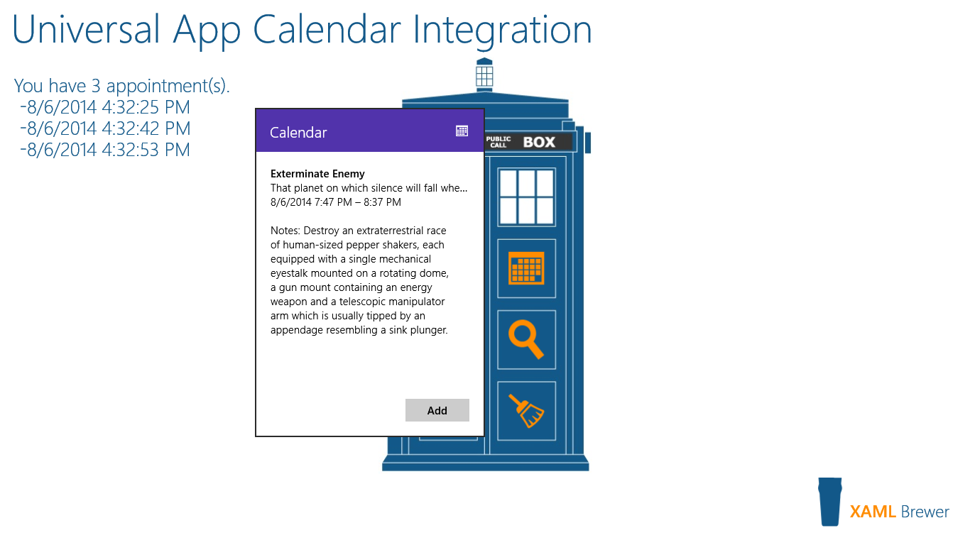 Diederik Krols | Universal Windows Apps: a Tale of Two Calendars