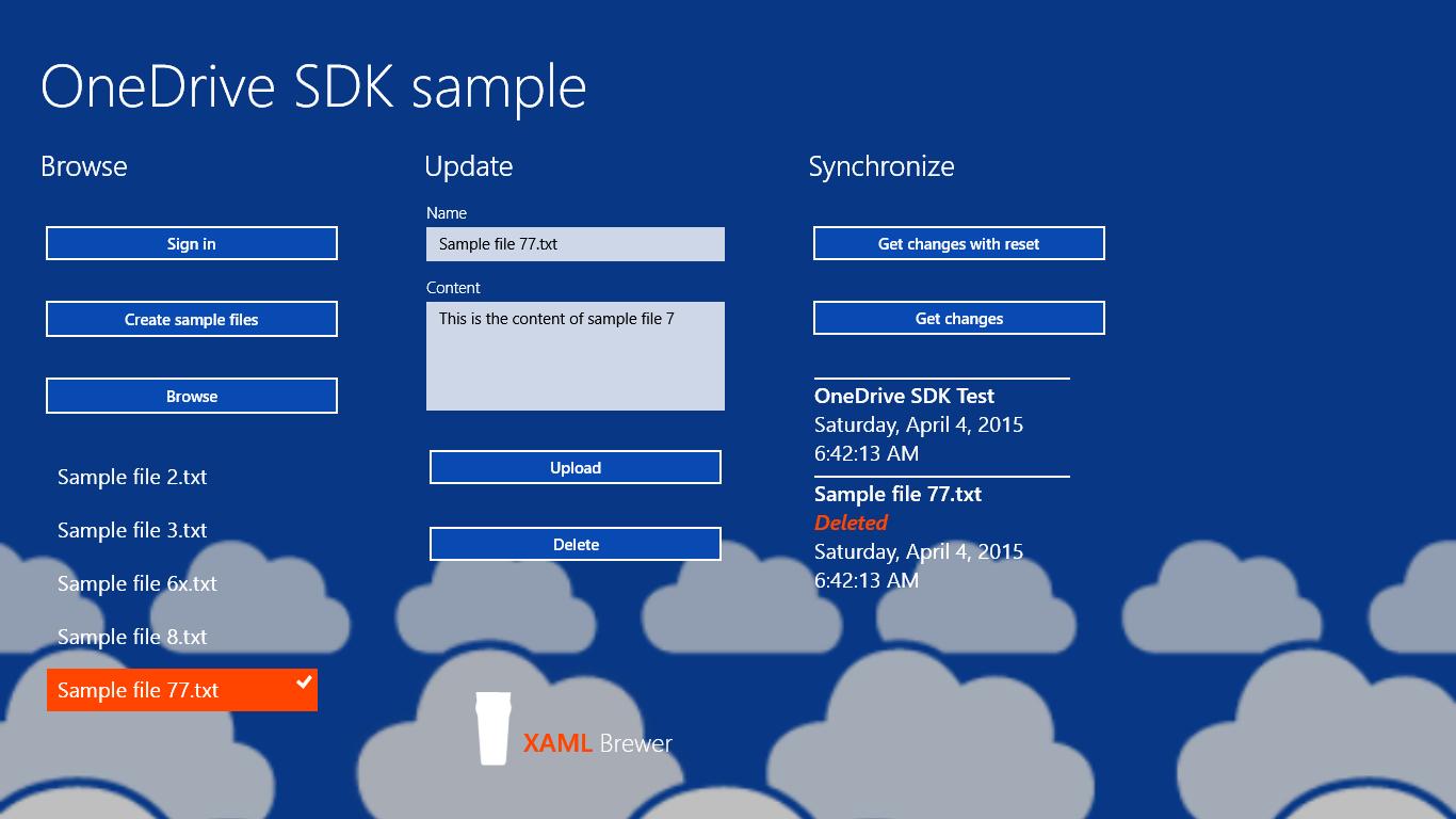 Diederik Krols | Using the OneDrive SDK in universal apps