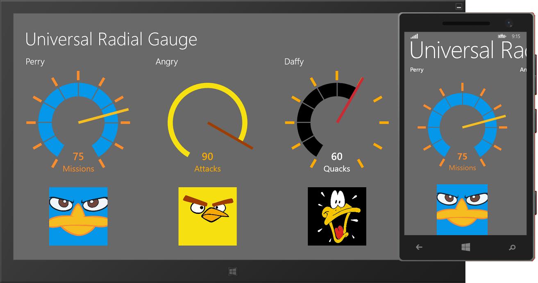 Diederik Krols | A Radial Gauge for Universal Windows Apps