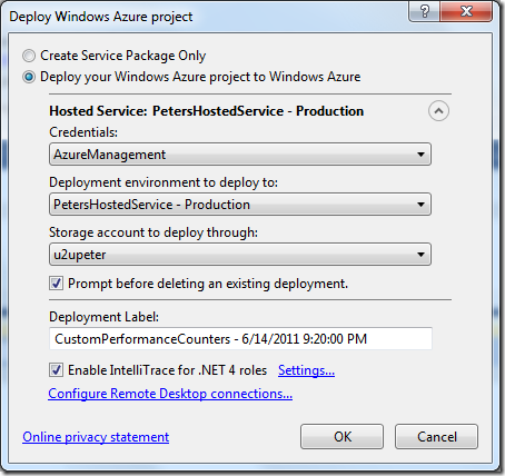 Peter | Remote debugging an Azure Worker role, using Azure